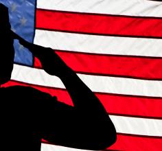 VA flag salute